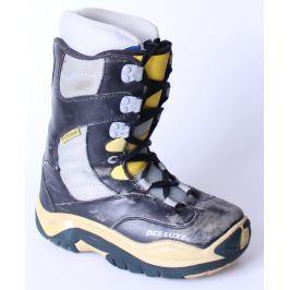 76e54665eb37 Detail · BAZÁR Snowboardové Topánky DEELUXE Žlto-sivo-modrá 23.5