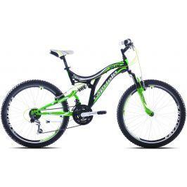 Detský bicykel CAPRIOLO CTX 240 24'' Čierno-zelená 17,5″