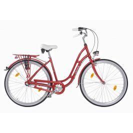 Dámsky mestský bicykel COSSACK Verona 28/3B 2018 červená perla 18,5″