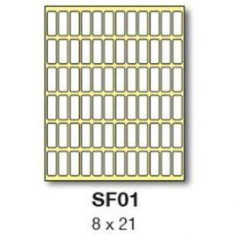 Etikety RAYFILM 8x21 biele ručne popisovateľné R0009SF01G R0009.SF01G