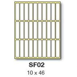 Etikety RAYFILM 10x46 biele ručne popisovateľné R0009SF02V (25 bal.) R0009.SF02V