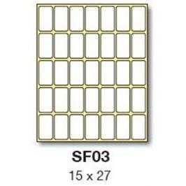 Etikety RAYFILM 15x27 biele ručne popisovateľné R0009SF03G R0009.SF03G