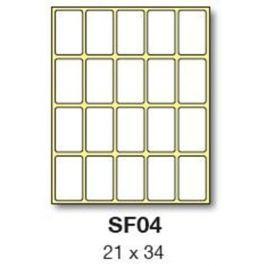 Etikety RAYFILM 21x34 biele ručne popisovateľné R0009SF04G R0009.SF04G