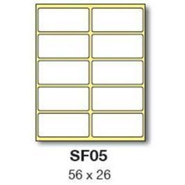 Etikety RAYFILM 56x26 biele ručne popisovateľné R0009SF05G R0009.SF05G