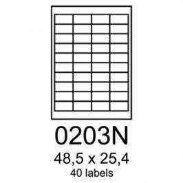Etikety RAYFILM 48,5x25,4 univerzálne biele R01000203NA R0100.0203NA