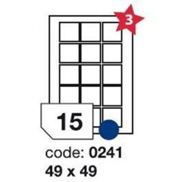 Etikety RAYFILM 49x49 univerzálne biele R01000241F R0100.0241F