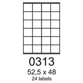 Etikety RAYFILM 52,5x48 univerzálne biele R01000313F R0100.0313F