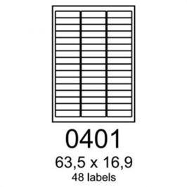 Etikety RAYFILM 63,5x16,9 univerzálne biele R01000401A R0100.0401A