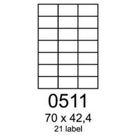 Etikety RAYFILM 70x42,4 univerzálne biele R01000511F R0100.0511F