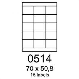 Etikety RAYFILM 70x50,8 univerzálne biele R01000514F R0100.0514F