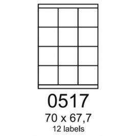 Etikety RAYFILM 70x67,7 univerzálne biele R01000517F R0100.0517F