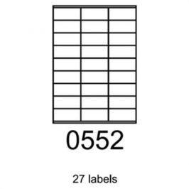 Etikety RAYFILM 70x32 univerzálne biele R01000552F R0100.0552F