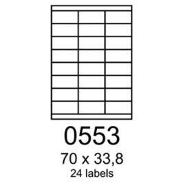 Etikety RAYFILM 70x33,8 univerzálne biele R01000553F R0100.0553F