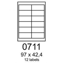 Etikety RAYFILM 97x42,4 univerzálne biele R01000711F R0100.0711F