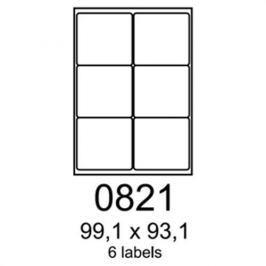 Etikety RAYFILM 99,1x93,1 univerzálne biele R01000821A R0100.0821A