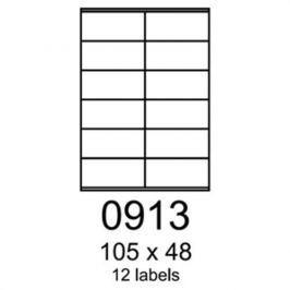 Etikety RAYFILM 105x48 univerzálne biele R01000913F (1.000 list./A4) R0100.0913F