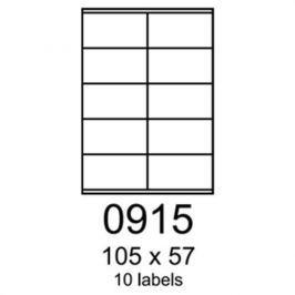 Etikety RAYFILM 105x57 univerzálne biele R01000915F (1.000 list./A4) R0100.0915F