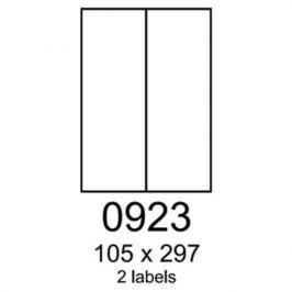 Etikety RAYFILM 105x297 univerzálne biele R01000923A (100 list./A4) R0100.0923A