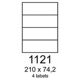Etikety RAYFILM 210x74,2 univerzálne biele R01001121A R0100.1121A