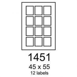Etikety RAYFILM 45x55 univerzálne biele R01001451F R0100.1451F