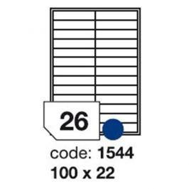 Etikety RAYFILM 100x22 univerzálne biele R01001544F (1.000 list./A4) R0100.1544F