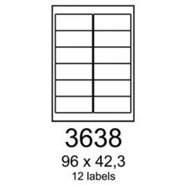 Etikety RAYFILM 96x42,3 univerzálne biele R01003638A R0100.3638A