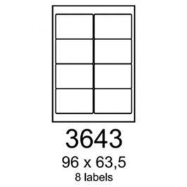 Etikety RAYFILM 96x63,5 univerzálne biele R0100.3643F