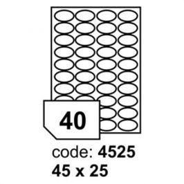 Etikety RAYFILM 45x25 (oval) univerzálne biele R01004525A R0100.4525A