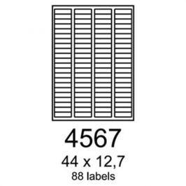 Etikety RAYFILM 44x12,7 univerzálne biele R01004567A R0100.4567A