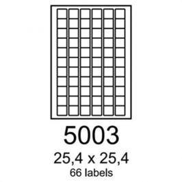 Etikety RAYFILM 25,4x25,4 univerzálne biele R01005003F R0100.5003F