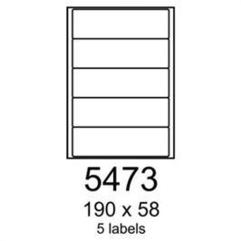 Etikety RAYFILM 190x58 univerzálne biele R01005473A R0100.5473A