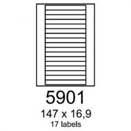 Etikety RAYFILM 147x16,9 univerzálne biele R01005901F (1.000 list./A4) R0100.5901F