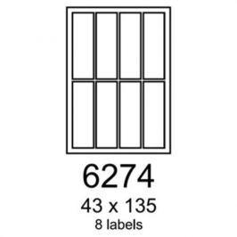 Etikety RAYFILM 43x135 univerzálne biele R01006274F R0100.6274F