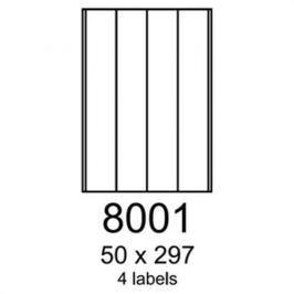 Etikety RAYFILM 50x297 univerzálne biele R01008001F R0100.8001F