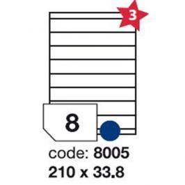 Etikety RAYFILM 210x33,8 univerzálne biele R01008005F R0100.8005F