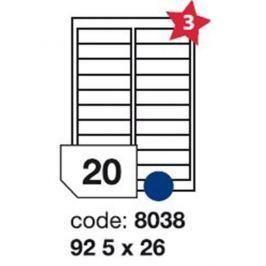 Etikety RAYFILM 92,5x26 univerzálne biele R01008038F R0100.8038F