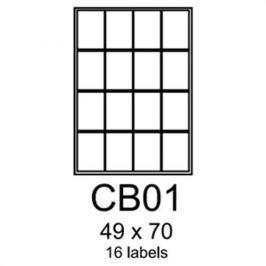 Etikety RAYFILM 49x70 univerzálne biele R0100CB01F R0100.CB01F