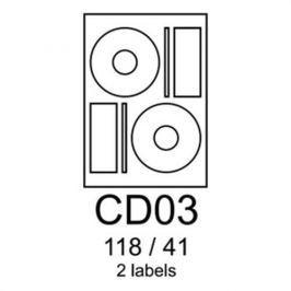 Etikety RAYFILM CD03 118/41 univerzálne biele R0100CD03A R0100.CD03A