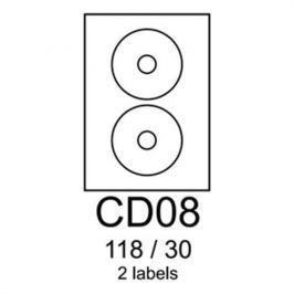 Etikety RAYFILM CD08 118/30 univerzálne biele R0100CD08A R0100.CD08A