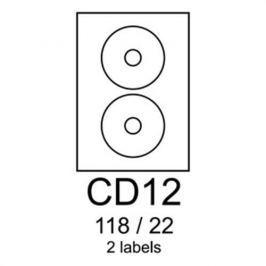 Etikety RAYFILM CD12 118/22 univerzálne biele R0100CD12A R0100.CD12A