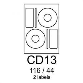 Etikety RAYFILM CD13 116/44 univerzálne biele R0100CD13A R0100.CD13A