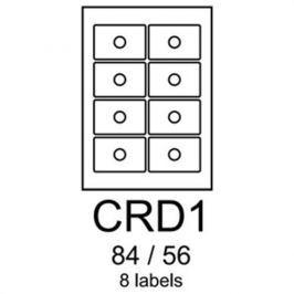 Etikety RAYFILM CRD1 84/56 univerzálne biele R0100CRD1A (100 list./A4) R0100.CRD1A