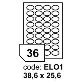 Etikety RAYFILM 38,6x25,6 (oval) univerzálne biele R0100ELO1A R0100.ELO1A