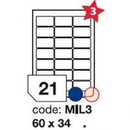 Etikety RAYFILM 60x34 univerzálne biele R0100MIL3F R0100.MIL3F