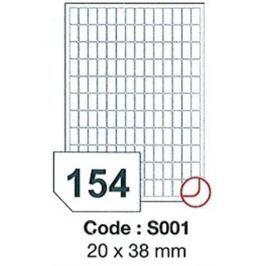 Etikety RAYFILM 20x38 univerzálne biele SRA3 R0100S001Q R0100.S001Q