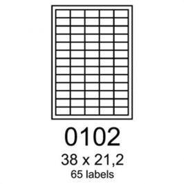 Etikety RAYFILM 38x21,2 biele s odnímateľným lepidlom R01020102A R0102.0102A