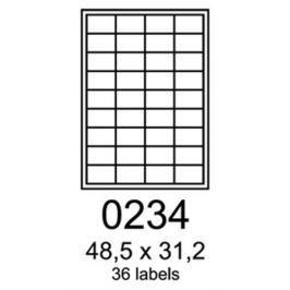 Etikety RAYFILM 48,5x31,2 biele s odnímateľným lepidlom R01020234A R0102.0234A