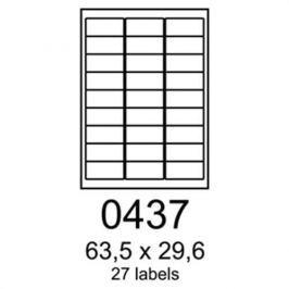 Etikety RAYFILM 63,5x29,6 biele s odnímateľným lepidlom R01020437A R0102.0437A