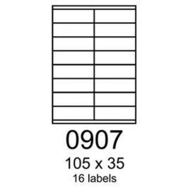 Etikety RAYFILM 105x35 biele s odnímateľným lepidlom R01020907F (1.000 list./A4) R0102.0907F
