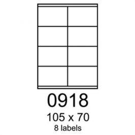 Etikety RAYFILM 105x70 biele s odnímateľným lepidlom R01020918A (100 list./A4) R0102.0918A